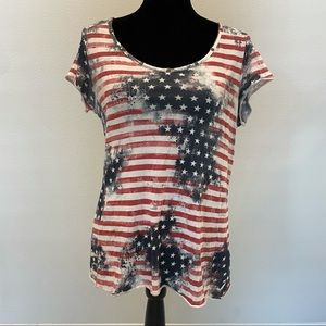 GUESS Patriotic Sexy Cut Out Top